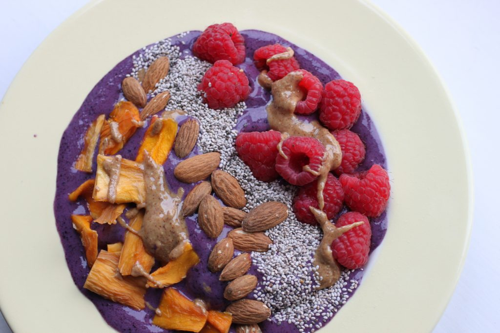 Balanced Blueberry Smoothie Bowl Recipe | Vegan, GF