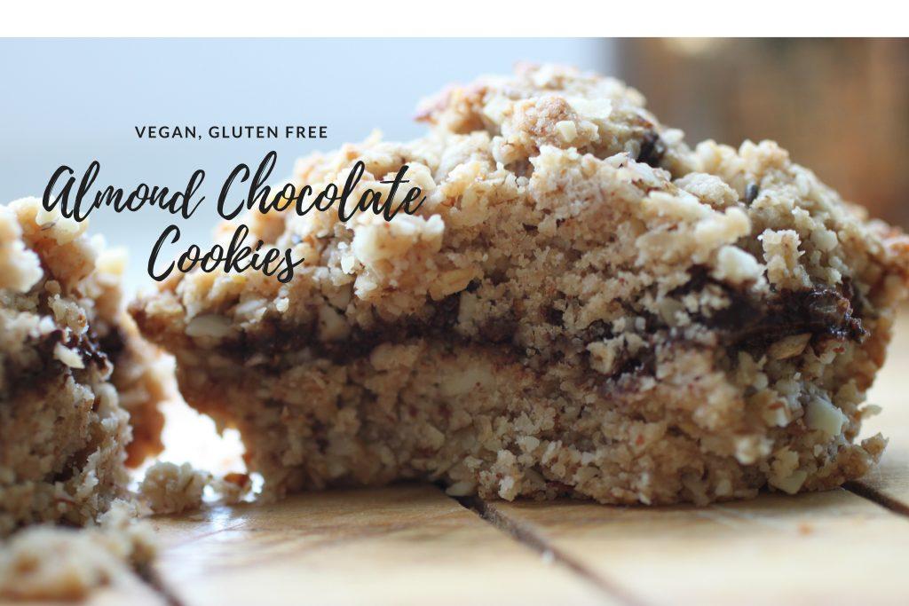 Almond Chocolate Crumble Cookies | Vg, GF