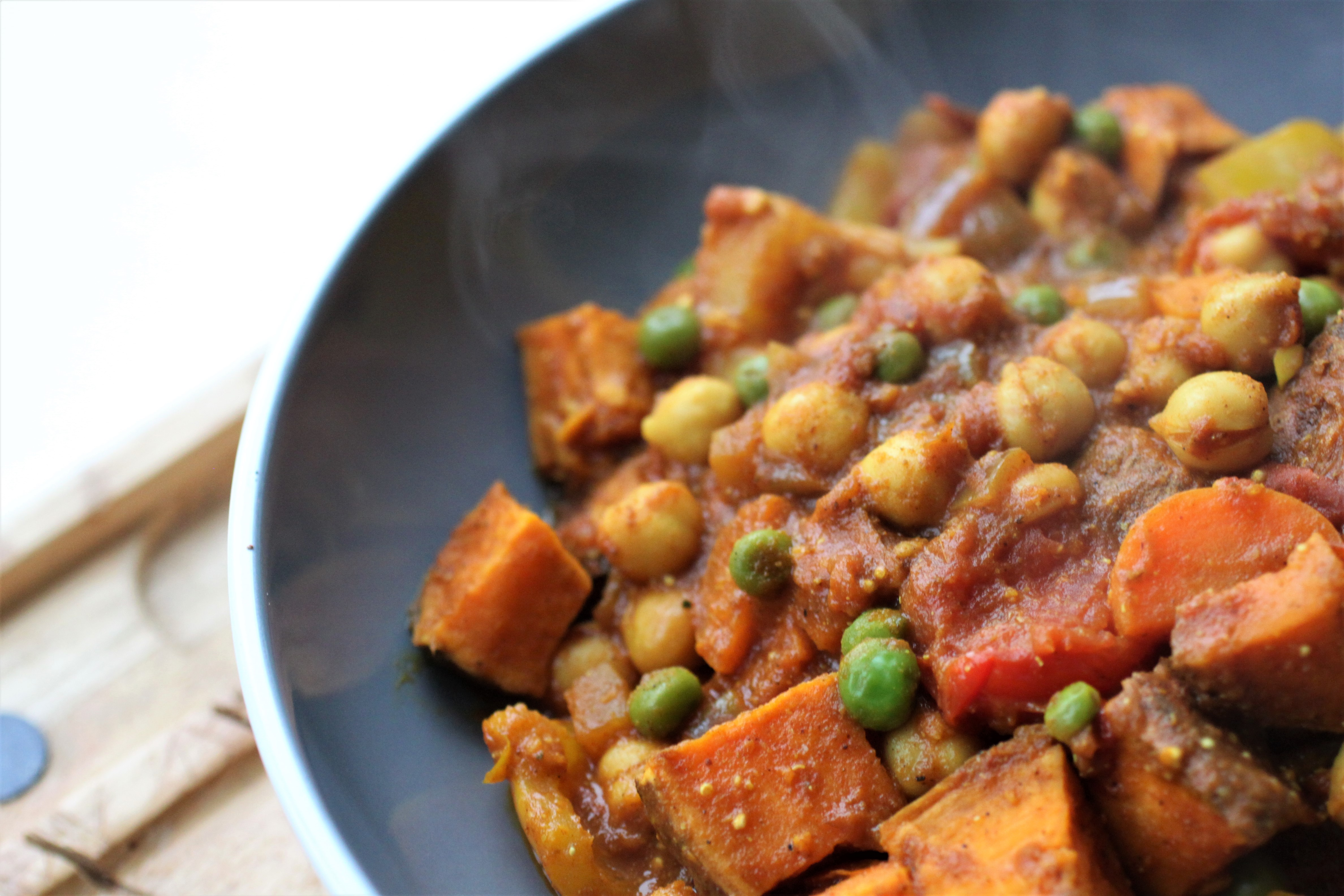 sweet potato and chickpea curry