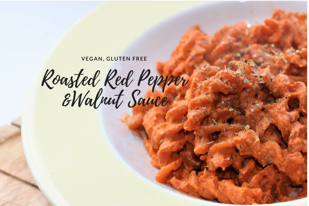 Roasted Red Pepper and Walnut Sauce | Vg, GF | #RecipeADayMay