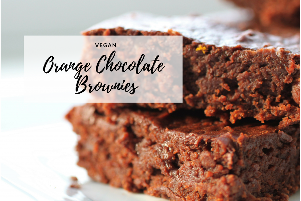 Orange Chocolate Brownies | Vegan | #RecipeADayMay