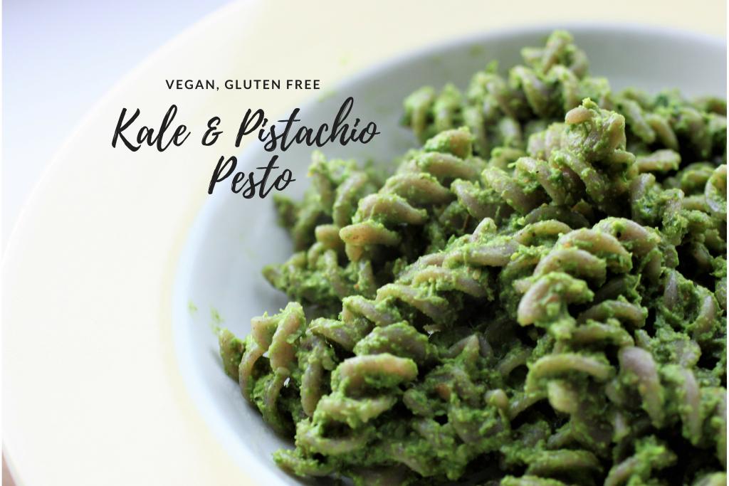 Kale and Pistachio Pesto | Vg, GF | #RecipeADayMay