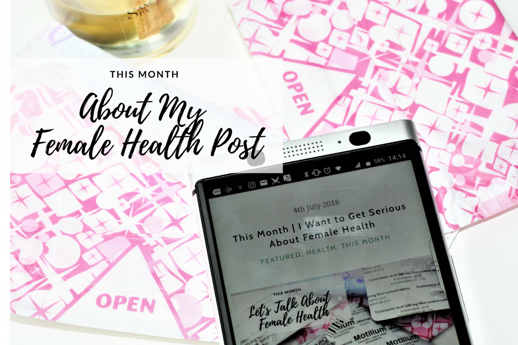 About My Female Health Post…. A Few Additional Thoughts