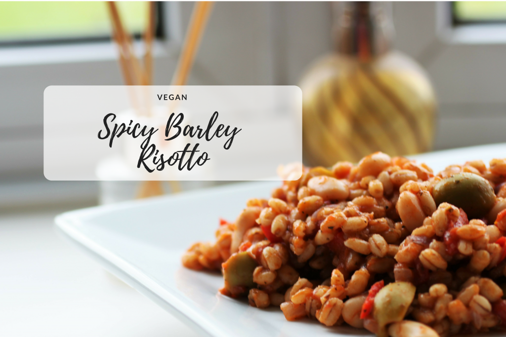 Spicy Italian Barley Risotto | Vegan