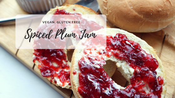 Spiced Plum Jam | Vegan, Gluten Free